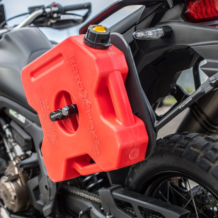 Motorcycle Spare Fuel Bottle Liquid containment